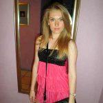 Blondine mit sexy Top