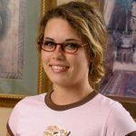 Nettes Girl mit Brille