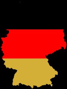 Karte Deutschland mit Flagge