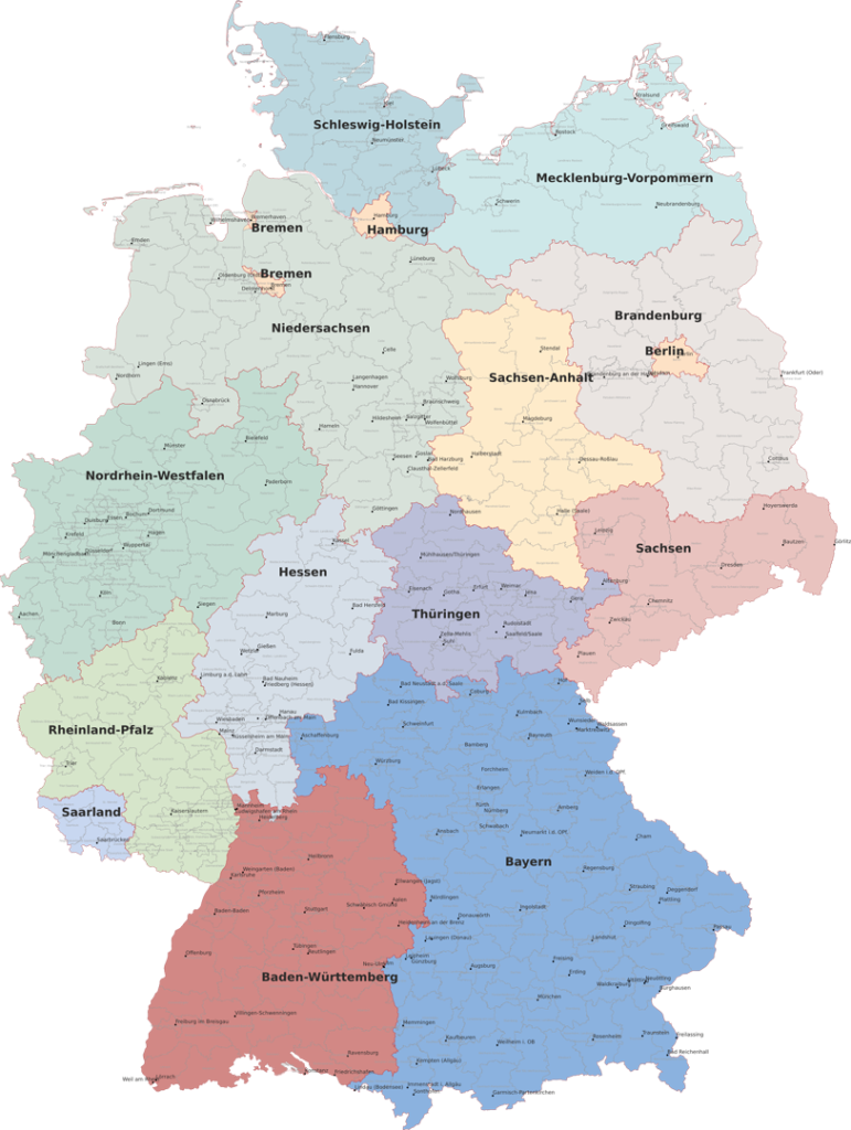 Karte Deutschland Landkreise