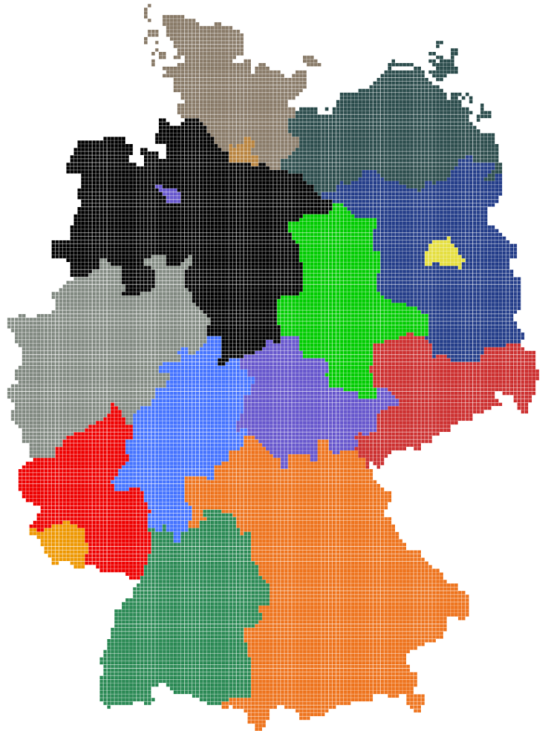 Karte Deutschland Regionen
